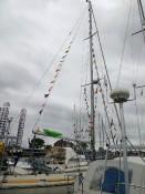 Start sail met een versierde markiezin