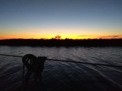 Zonsondergang pampushaven